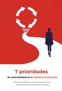Portada ebook 7 prioridades de sostenibilidad en la industria textil-moda